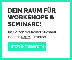 Raum für Workshops & Ausstellungen in der kölner Südstadt anmieten