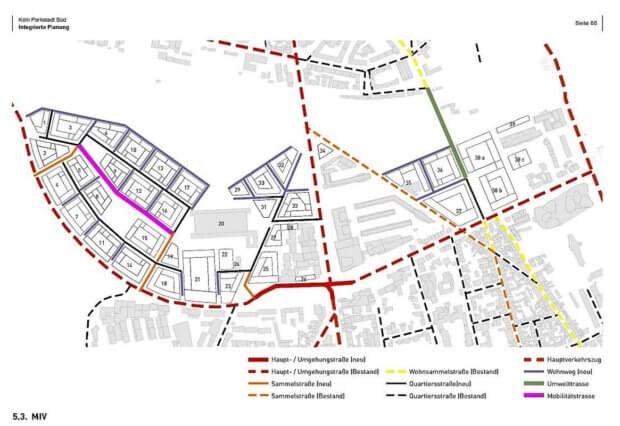 Verkehrserschließung Parkstadt Süd