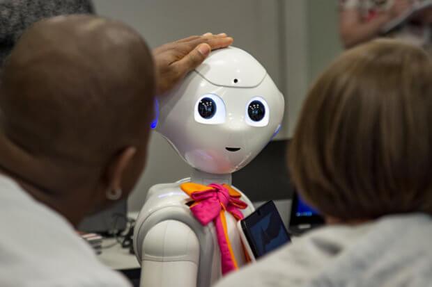 Roboter in der Pflege.
