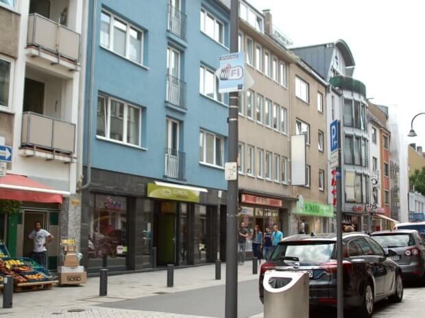 WIFI Hinweis auf der Severinstraße