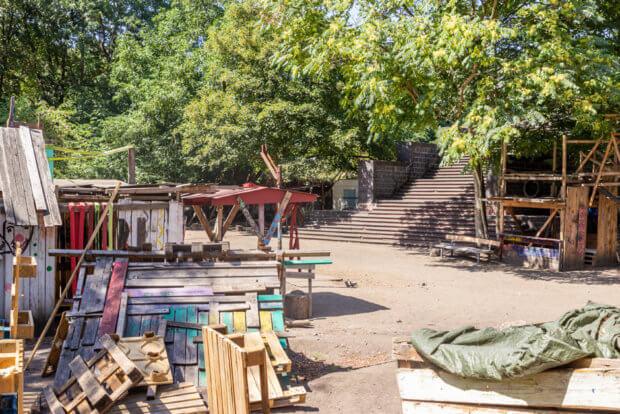 Der Bauspielplatz am Friedenspark