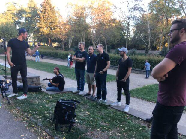 Lupo, Musikvideodreh im Römerpark