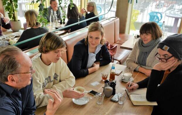 diebesten.koeln, Gewinnerinnen Sarah Hermanns/Bagatelle, Marlene Treppner/Neni und Andreea Bratu, Fette Kuh (v.l.n.r.)