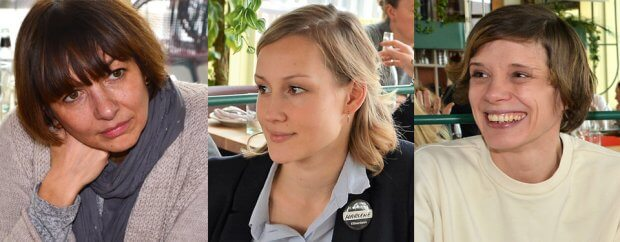 Andreea Bratu, Marlene Treppner und Sarah Hermanns v.l.n.r