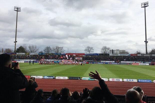 Fortuna Fanreporter beim Spiel gegen FSV Zwickau