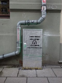 Stromkasten zerstört