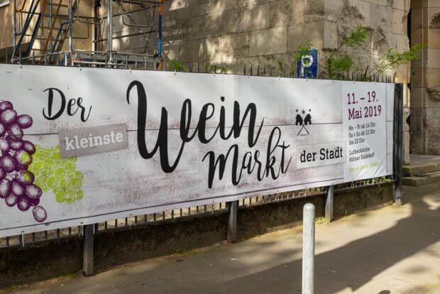 Der kleinste Weinmarkt der Stadt