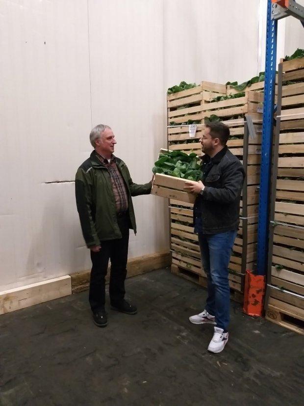 Gemüsehändler in der Großmarkthalle