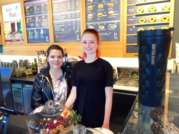 Europa im Coffee Fellows mit Janina & Melanie