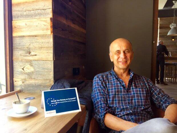 Europa im Coffee Fellows mit Martin