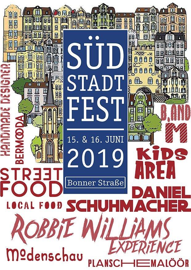 Plakat zum Südstadtfest 2019